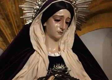 La Virgen del Amor y el Trabajo de hebrea