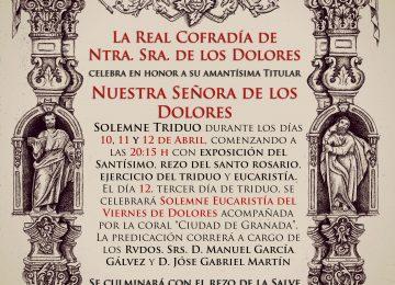 Cultos de la cofradía de Los Dolores
