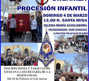 Este domingo, procesión infantil de Salesianos