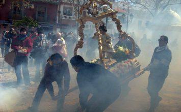CÚLLAR VEGA. Virtual procesión de los petardos