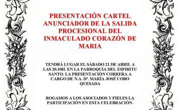 Presentación cartel Inmaculado Corazón