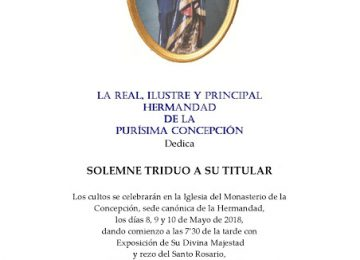 Triduo a la Inmaculada Concepción