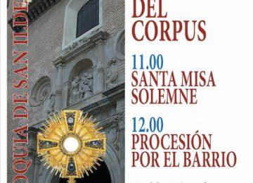 Procesión eucarística en San Ildefonso