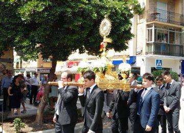 La Banda de Cúllar Vega con el Corpus de los Agustinos