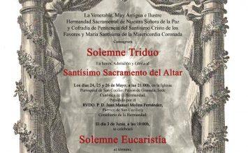 Cultos Sacramentales en Los Favores