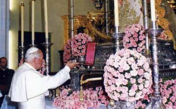Reliquia de Juan Pablo II para el Rocío