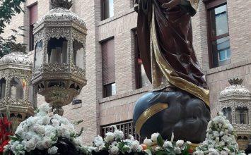 Los Sagrados Corazones salieron en procesión
