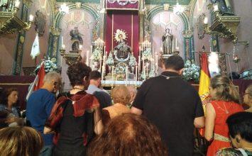 Cultos a la Virgen del Carmen en la capital