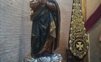 La Virgen de los Favores en la expo de Montañés