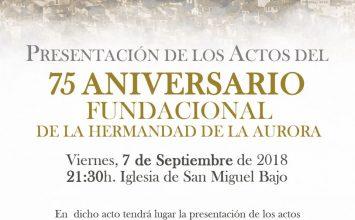 La Aurora presenta hoy su 75 Aniversario