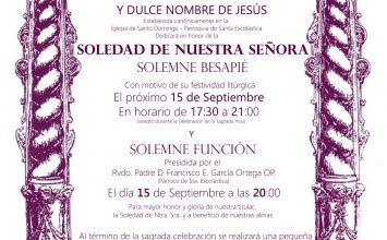 Cultos a la Soledad de Santo Domingo