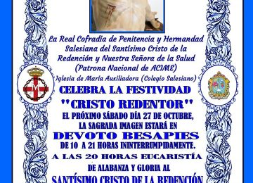 Salesianos celebra a Cristo Redentor