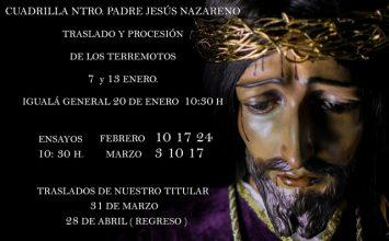 MOTRIL. Ensayos de la cuadrilla del Nazareno