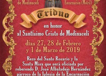 MOTRIL. Cultos al Cristo de Medinaceli
