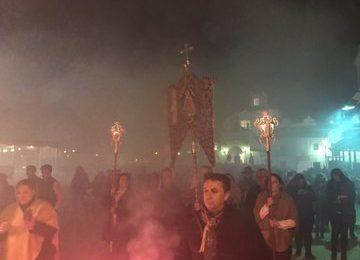 La hermandad del Rocío festejó la candelaria