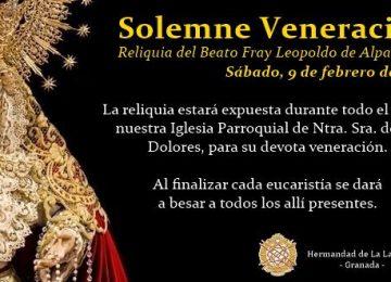 La Lanzada expone la reliquia de Fray Leopoldo