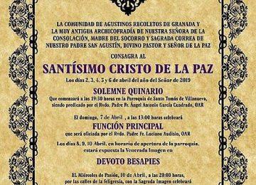 Cultos al Cristo de la Paz en Santo Tomás