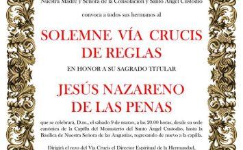 Hoy viacrucis con Jesús de las Penas