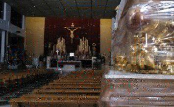 El paso de La Lanzada ya está en su iglesia