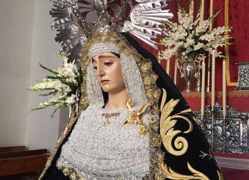 LOJA. Se presenta la Virgen de los Dolores tras su restauración