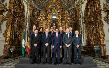 Presidentes de Agrupaciones con la Junta de Andalucía