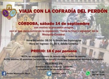 MOTRIL. Viaje del Perdón a Córdoba.