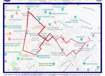 Itinerario de la salida extraordinaria del Huerto