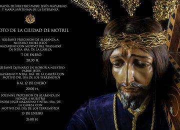 MOTRIL. Cultos en la 'fiesta de los terremotos'