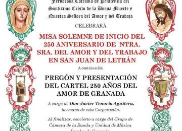 Cartel 250 Aniversario de Amor y Trabajo