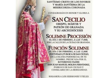 Procesión y cultos a San Cecilio