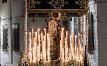 Cartel del Vía Crucis