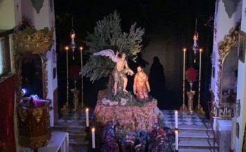 Llamativo altar del Huerto