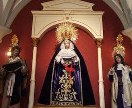 La Virgen de la Luz viste de luto