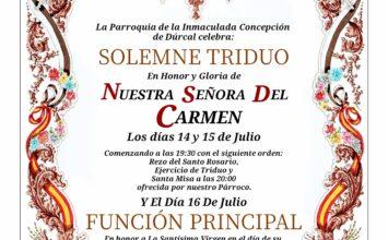 DÚRCAL. Cultos a la Virgen del Carmen