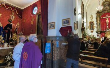 Placa en recuerdo de los 75 años de la consagración de la capilla al Cristo de S. Agustín
