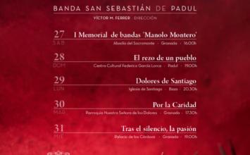 La Banda S. Sebastián de Padul dará conciertos esta Semana Santa