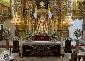 La Virgen del Rosario estuvo bajo palio