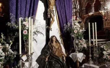 El Cristo de Burgos recibe culto en la Patrona