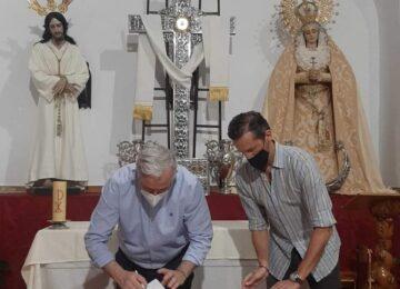 LOJA. Nuevo palio para la Virgen de los Dolroes