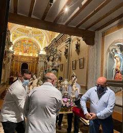 GABIA. La Patrona ya está en el templo parroquial