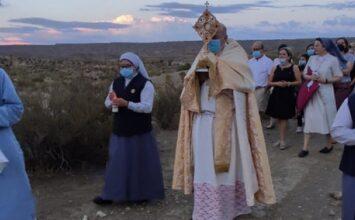 GUADIX. El obispo bendijo los campos de la diócesis desde Face Retama